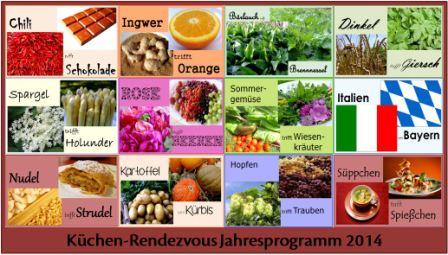 Küchenrendezvous Jahresprogramm 2014