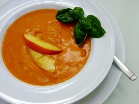 Tomaten Pfirsich Suppe
